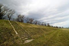 Escaleras en una cuesta Imagen de archivo