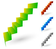 Escaleras/escalera/elementos de los pasos en perspectiva leve ilustración del vector