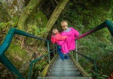 Escaleras escarpadas que suben Fotografía de archivo libre de regalías