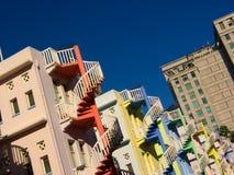 Escaleras espirales coloridas Foto de archivo libre de regalías