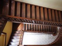 Escaleras espirales de madera Foto de archivo libre de regalías