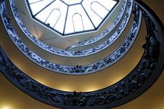 Escaleras espirales del Vatican, Roma. imagenes de archivo