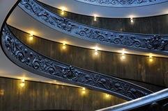 Escaleras espirales del Vaticano Foto de archivo libre de regalías