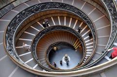 Escaleras espirales del Vaticano Fotografía de archivo libre de regalías