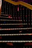 Escaleras espirales iluminadas Imagen de archivo