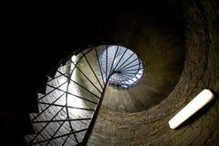 Escaleras espirales viejas Imagen de archivo libre de regalías