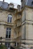Escaleras exteriores del una mansión vieja Imagen de archivo libre de regalías