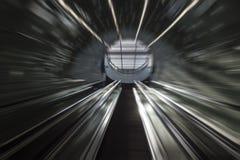 Escaleras futuristas del sistema del subterráneo Fotografía de archivo