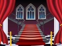 Escaleras góticas interiores Fotos de archivo