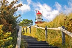 Escaleras hacia el faro de Vlieland Imágenes de archivo libres de regalías