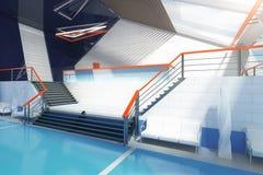 Escaleras interiores azules Imagenes de archivo