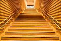 Escaleras interiores de madera Fotografía de archivo
