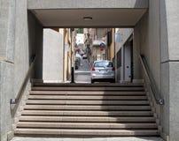 Escaleras a la ciudad Cerdeña, Cagliari Belleza de la naturaleza fotografía de archivo libre de regalías
