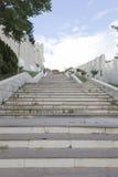 escaleras a la construcción - composición de la escalera Foto de archivo libre de regalías