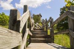 Escaleras a la torre de agua de la ha ha Tonka fotografía de archivo libre de regalías