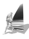 Escaleras largas Imagen de archivo