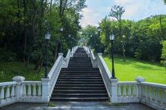 Escaleras a las derechas de Magdeburgo Fotografía de archivo
