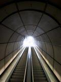 Escaleras móviles en el metro de Bilbaos Imagen de archivo libre de regalías
