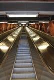 Escaleras móviles en el subterráneo de Estocolmo Foto de archivo libre de regalías