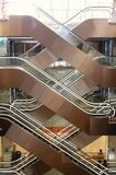 Escaleras móviles en la alameda Fotografía de archivo libre de regalías