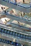 Escaleras móviles en la alameda Imagenes de archivo