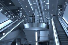 Escaleras móviles y escaleras, Domoded Imagen de archivo