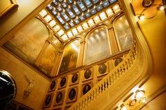 Escaleras masónicas del templo Imagenes de archivo