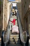 Escaleras mecánicas I fotografía de archivo