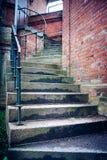 Escaleras melancólicas, de enrrollamientos foto de archivo