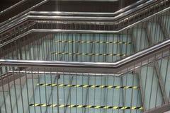 Escaleras metálicas modernas Imagen de archivo libre de regalías