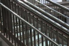 Escaleras metálicas modernas Imagenes de archivo