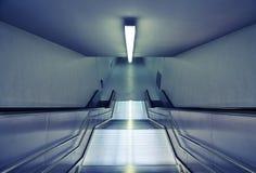 Escaleras modernas del subterráneo Imágenes de archivo libres de regalías
