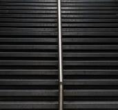 Escaleras negras de la piedra Foto de archivo