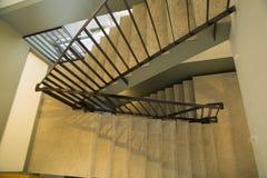 Escaleras negras en casa agradable Imágenes de archivo libres de regalías