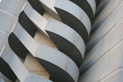 Escaleras únicas del edificio Fotos de archivo libres de regalías