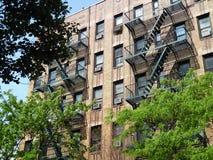 Escaleras NYC del escape Foto de archivo libre de regalías