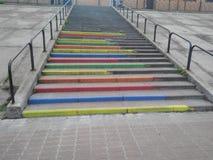 Escaleras olored ¡de Ð Fotos de archivo