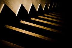 Escaleras oscuras 1 Imágenes de archivo libres de regalías