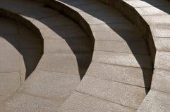 Escaleras profundas del granito Imagenes de archivo