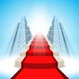 Escaleras que llevan al éxito Foto de archivo