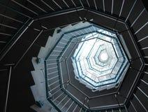 Escaleras que tuercen en espiral Imágenes de archivo libres de regalías