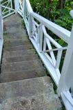 Escaleras que van abajo Fotografía de archivo