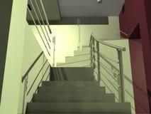 Escaleras quebradas Foto de archivo libre de regalías