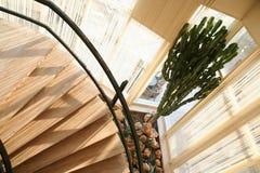 Escaleras redondas en la puesta del sol Imágenes de archivo libres de regalías
