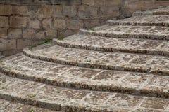 Escaleras resistidas Foto de archivo libre de regalías