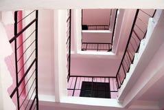 Escaleras rosadas. Fotos de archivo