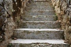 Escaleras rurales de piedra Foto de archivo libre de regalías