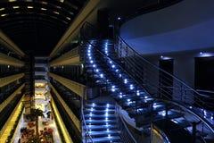 Escaleras spral ligeras Fotos de archivo