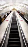 Escaleras subterráneos de Londres Imagen de archivo libre de regalías