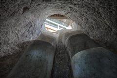 Escaleras subterráneos en Tierradentro fotografía de archivo